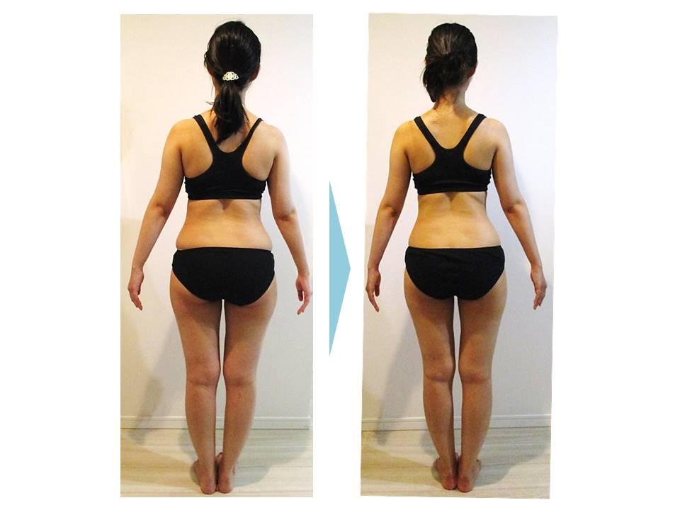 ダイエット‗ボディメイク‗大森‗C‗変化‗体重‗体脂肪率‗結婚式‗ウェディング‗ドレス‗背中‗お腹‗ふともも‗太もも‗すっきり‗二の腕‗デコルテ‗鎖骨_半年‗姿勢改善‗4