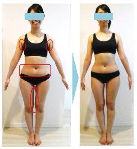 ダイエット‗ボディメイク‗大森‗C‗変化‗体重‗体脂肪率‗結婚式‗ウェディング‗ドレス‗背中‗お腹‗ふともも‗太もも‗すっきり‗二の腕‗デコルテ‗鎖骨_半年‗姿勢改善‗10