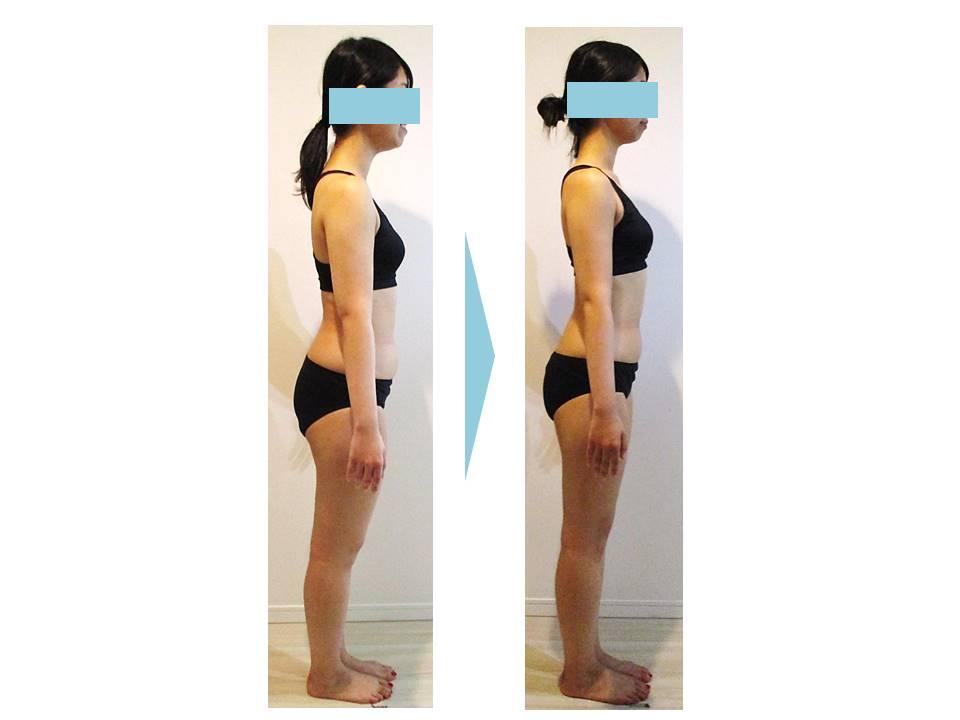 ダイエット‗ボディメイク‗大森‗C‗変化‗体重‗体脂肪率‗結婚式‗ウェディング‗ドレス‗背中‗お腹‗ふともも‗太もも‗すっきり‗二の腕‗デコルテ‗鎖骨_半年‗姿勢改善‗3
