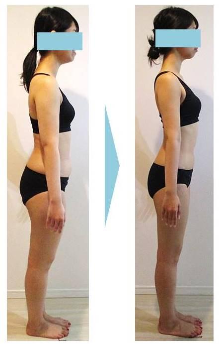 ダイエット‗ビフォーアフター‗変化‗痩‗見た目‗お腹‗太もも‗デコルテ‗二の腕_姿勢‗肩甲骨‗ヒップ