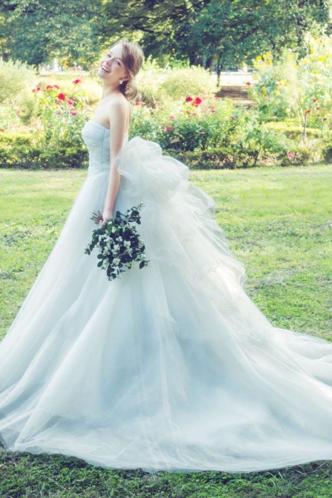 純白_ウェディングドレス