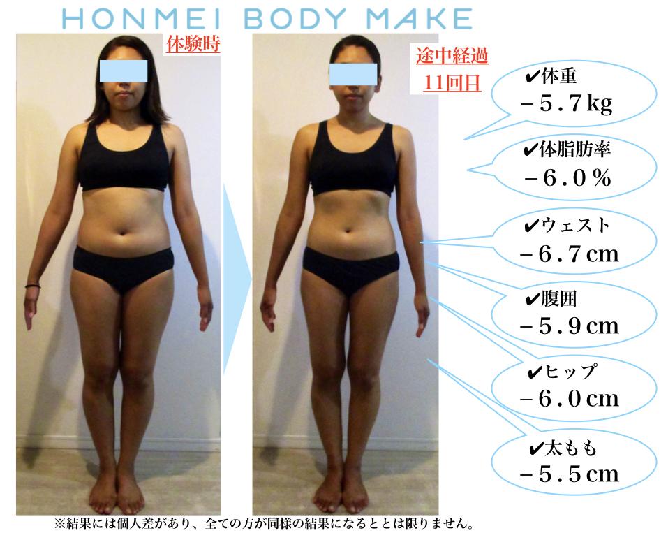 6kg痩せ|太もも痩せ|ダイエット|大森|女性専用|ジム|パーソナル